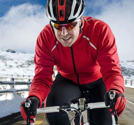 Winter training for cyclists